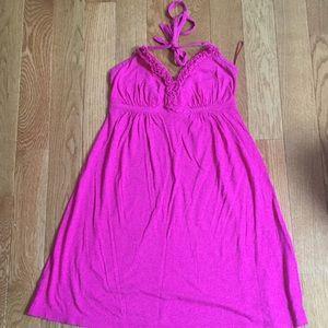 Express Hot pink sun dress